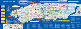Mapa de onibus turistico e hop on hop off bus tour de City Sights NY